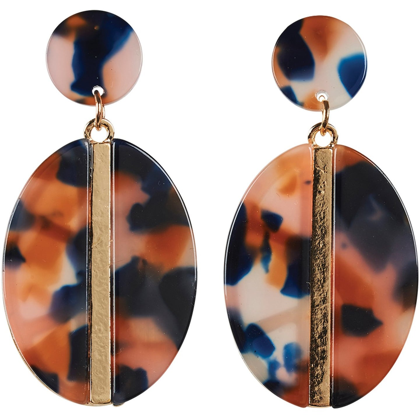 eb&ive Zena Oval Earrings in Ember