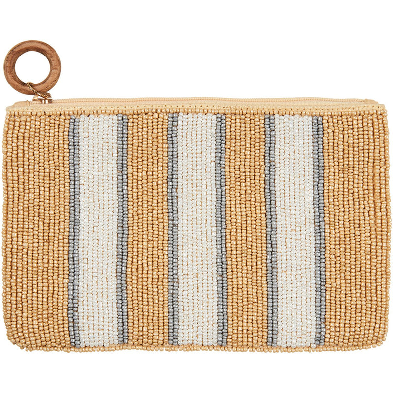 eb&ive Union Pouch in Sand Stripe