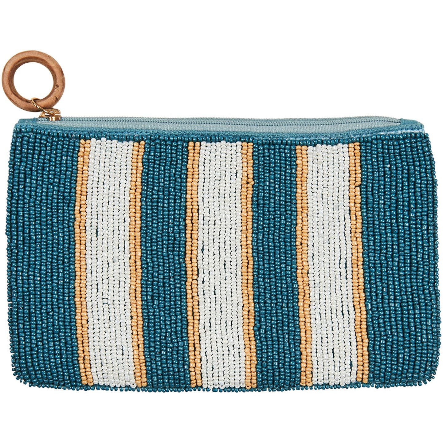 eb&ive Union Pouch in Teal Stripe