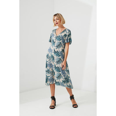 Lania The Label Glade Dress in Almond Print