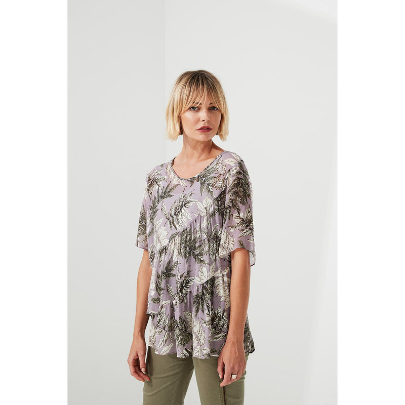Lania The Label Glade Sheer top in Lavender