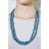 Acai Bead Necklaces by Melko in Denim