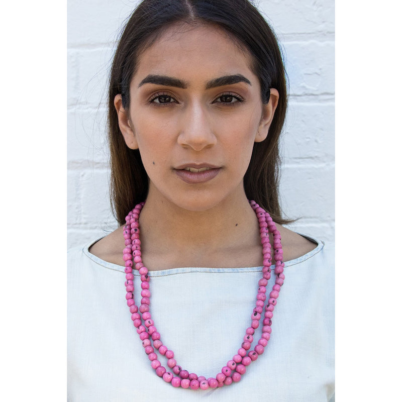 Acai Bead Necklaces by Melko in Musk