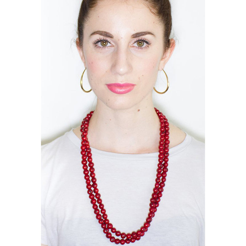 Acai Bead Necklaces by Melko in Rose