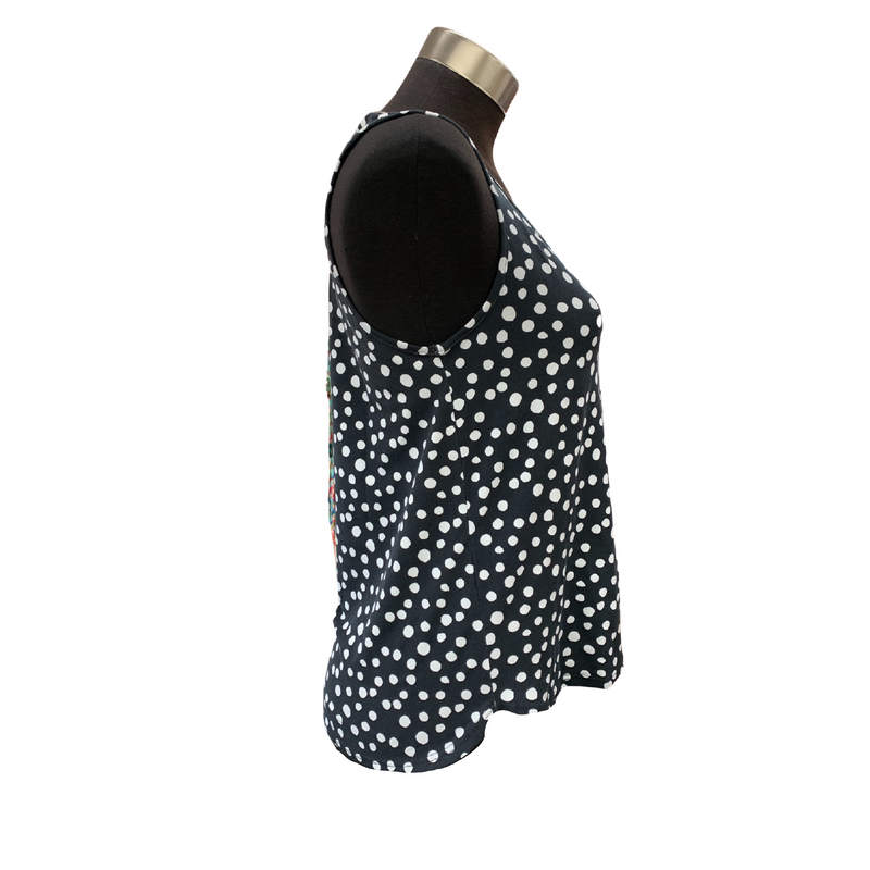 Tani Shell Tank top Loose Fit in Dotty Spot