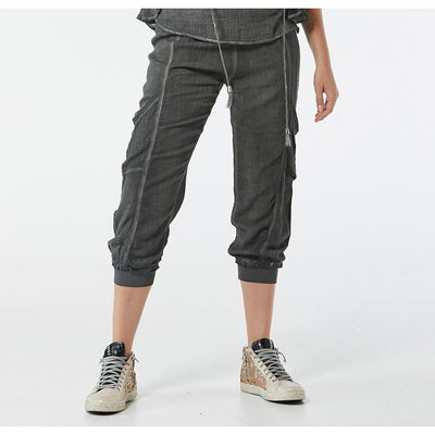 365 Days Comfy Linen Pant in Charcoal