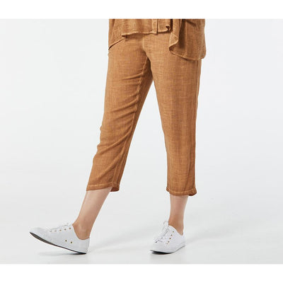 365 Days Casual Linen Pant in Chestnut