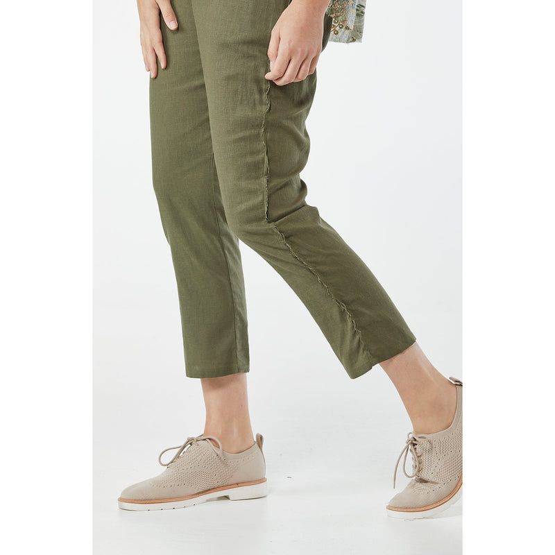 365 Days Casual Linen Pant in Khaki