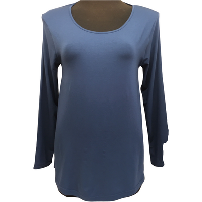 Tani Long Sleeve Swing top in Solid plain colours