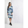 Foil Still Swinging Shift Dress in Lands Glacier Print