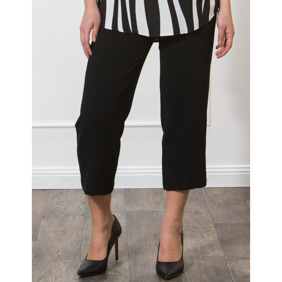 Privilege High Waist Cropped Trouser in Black