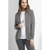 Foil Soft Serve Deluxe Cardigan in Black Stripe