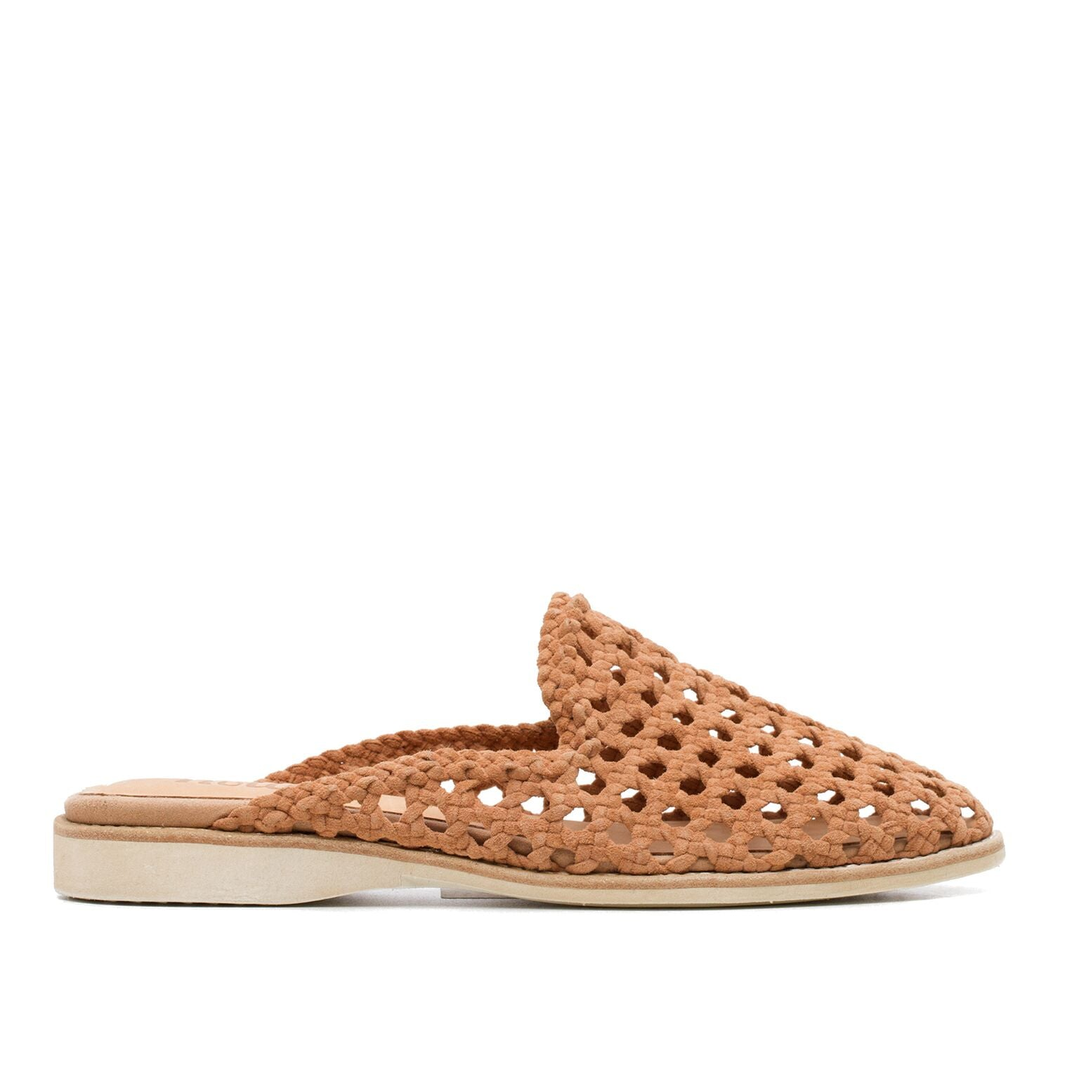 Rollie Madison Mule Open Weave in Camel