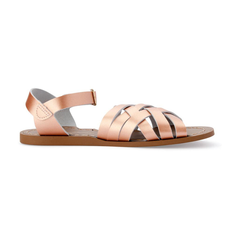 Salt Water Retro Sandals in Rose Gold