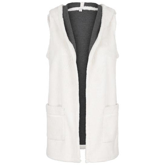 Tribal Clothing Vest with Hood in Bone