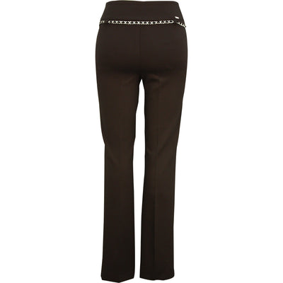 Up! Pant Ponte Classic Straight leg in Black