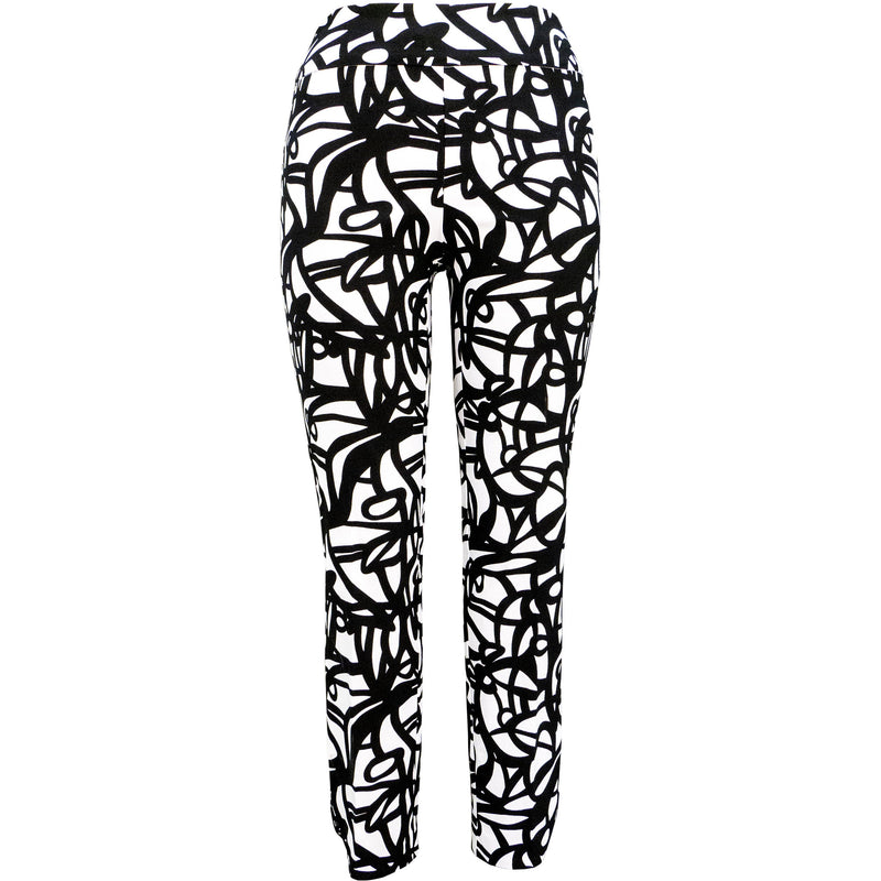 Up! Pant Techno Pant in Scribble print.