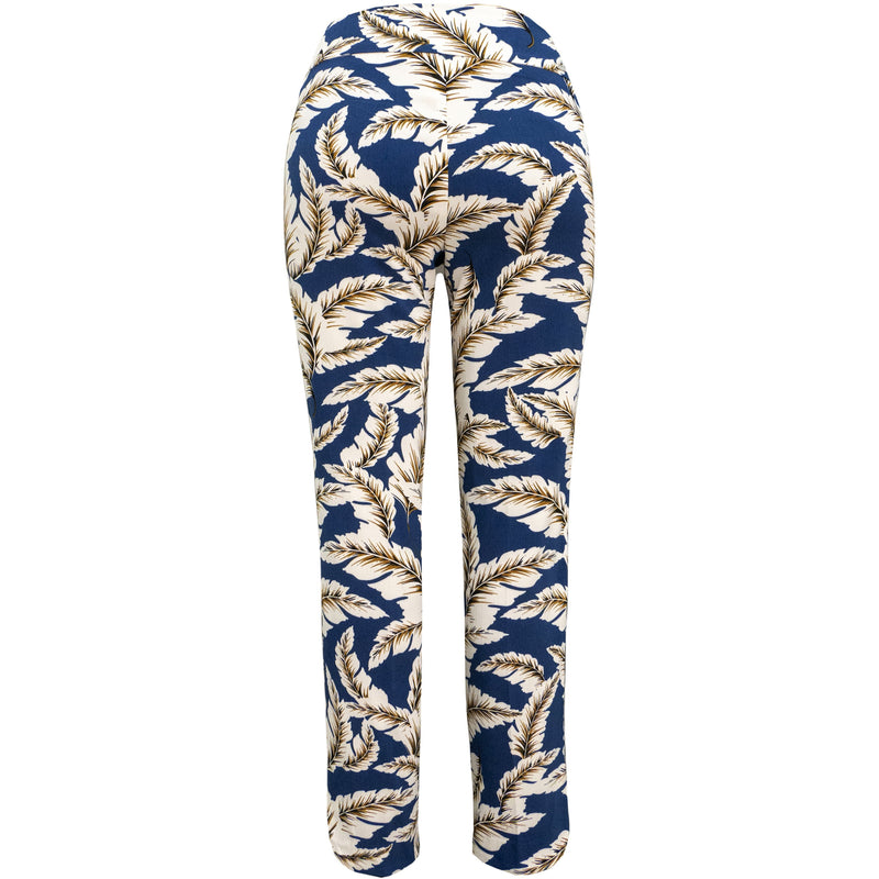 Up! Pant Techno Crop Pant in Boca blue print
