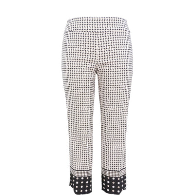 Up! Pant Techno Crop Pant in Border Print