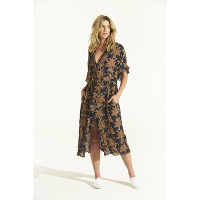 oneseason Jasmine Dress in Palma viscose Print