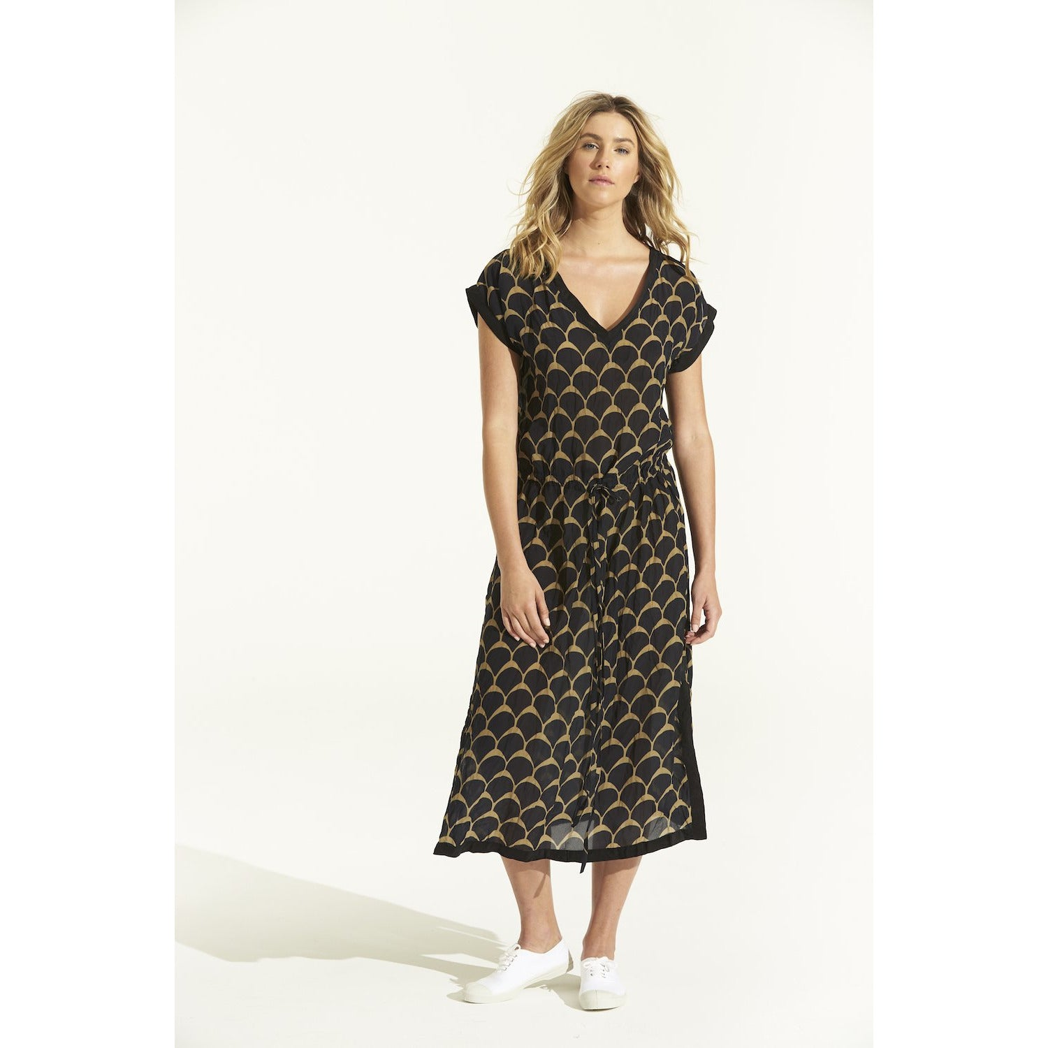 oneseason Sami Dress in Hvar Ink Print