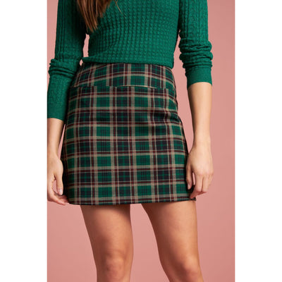 King Louie Olivia Skirt Rodeo Check in Peacock Green