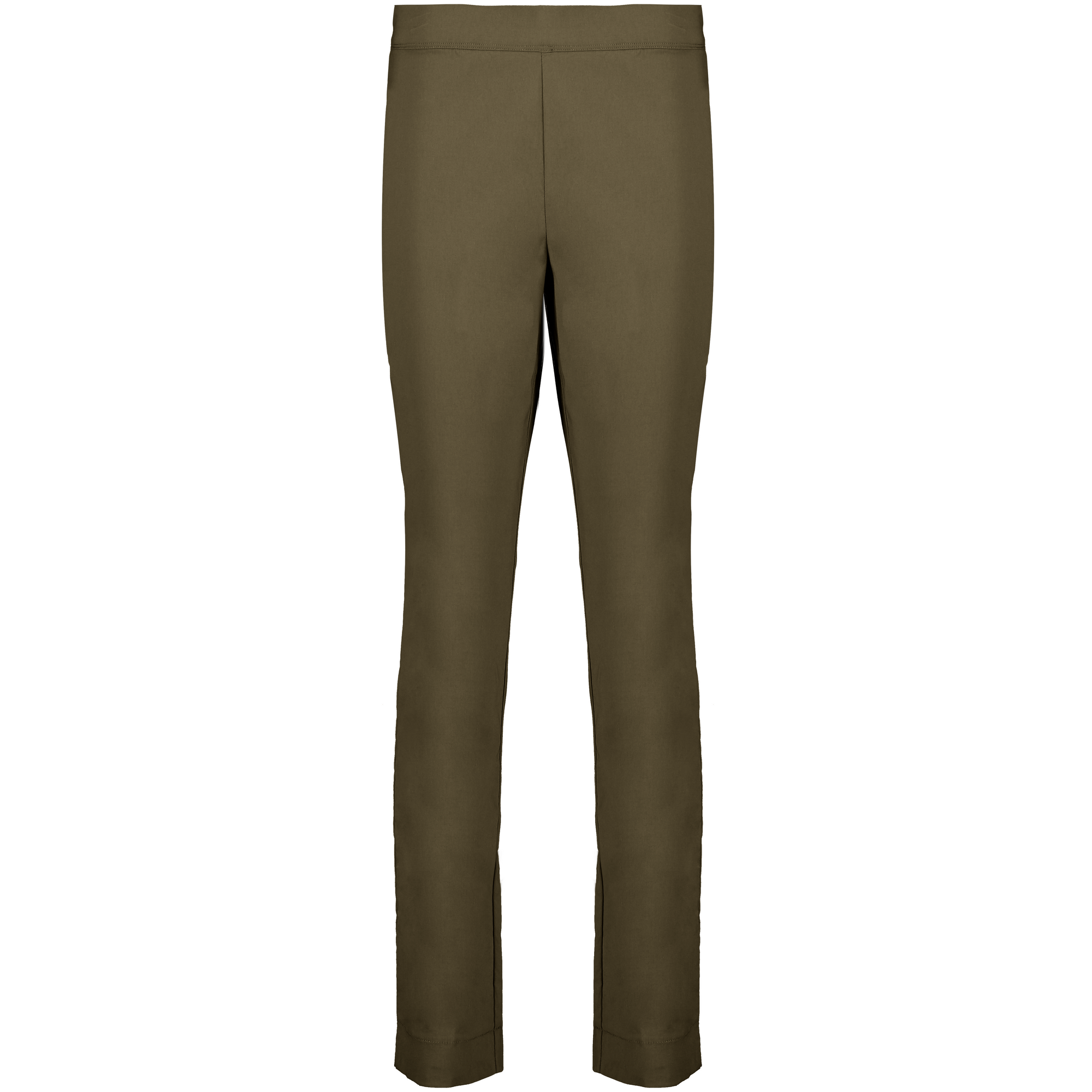 Foil Signature Full length Slim trapeze pant in Plain Caper
