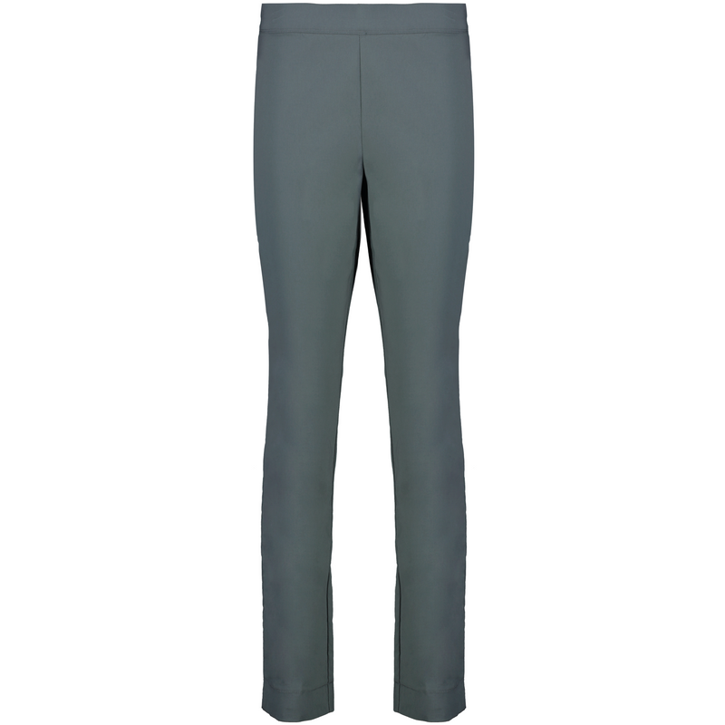 Foil Signature Full length Slim trapeze pant in Plain Washed Teal