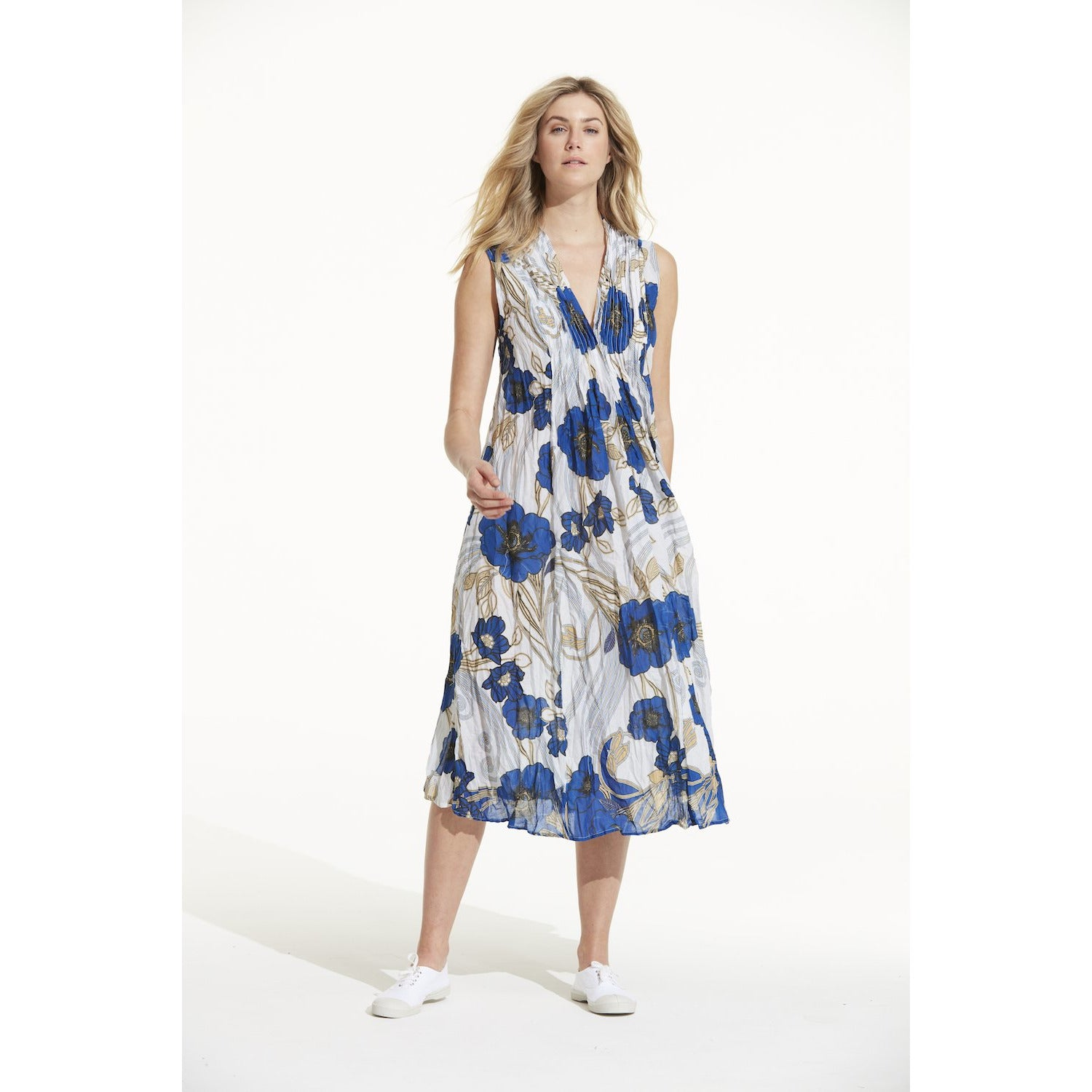 oneseason Tommy Florence Cotton Dress in Blue