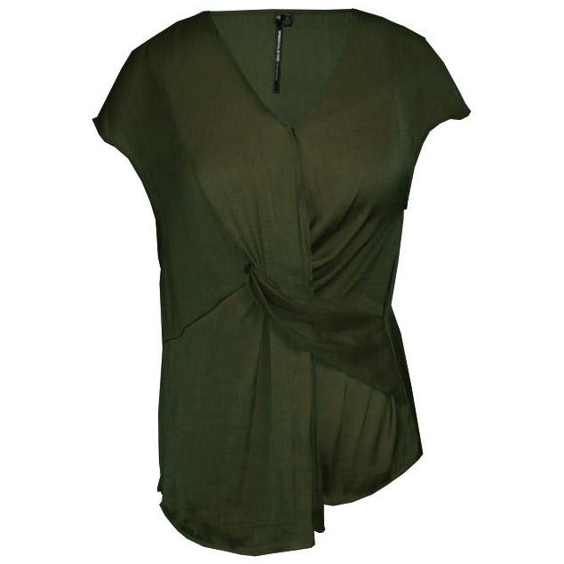 Privilege Twist front V neck top