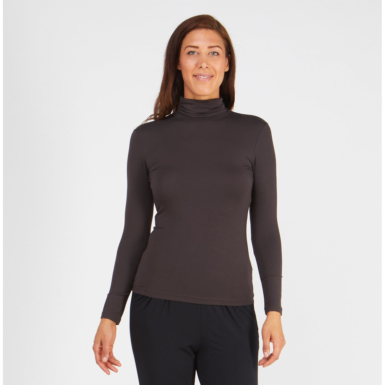 Tani Long Sleeve Turtle Neck Top in Plain colours