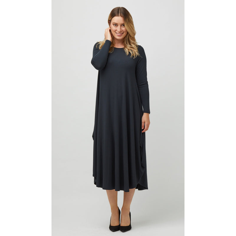Tani Long Sleeve Tri Dress in Forest