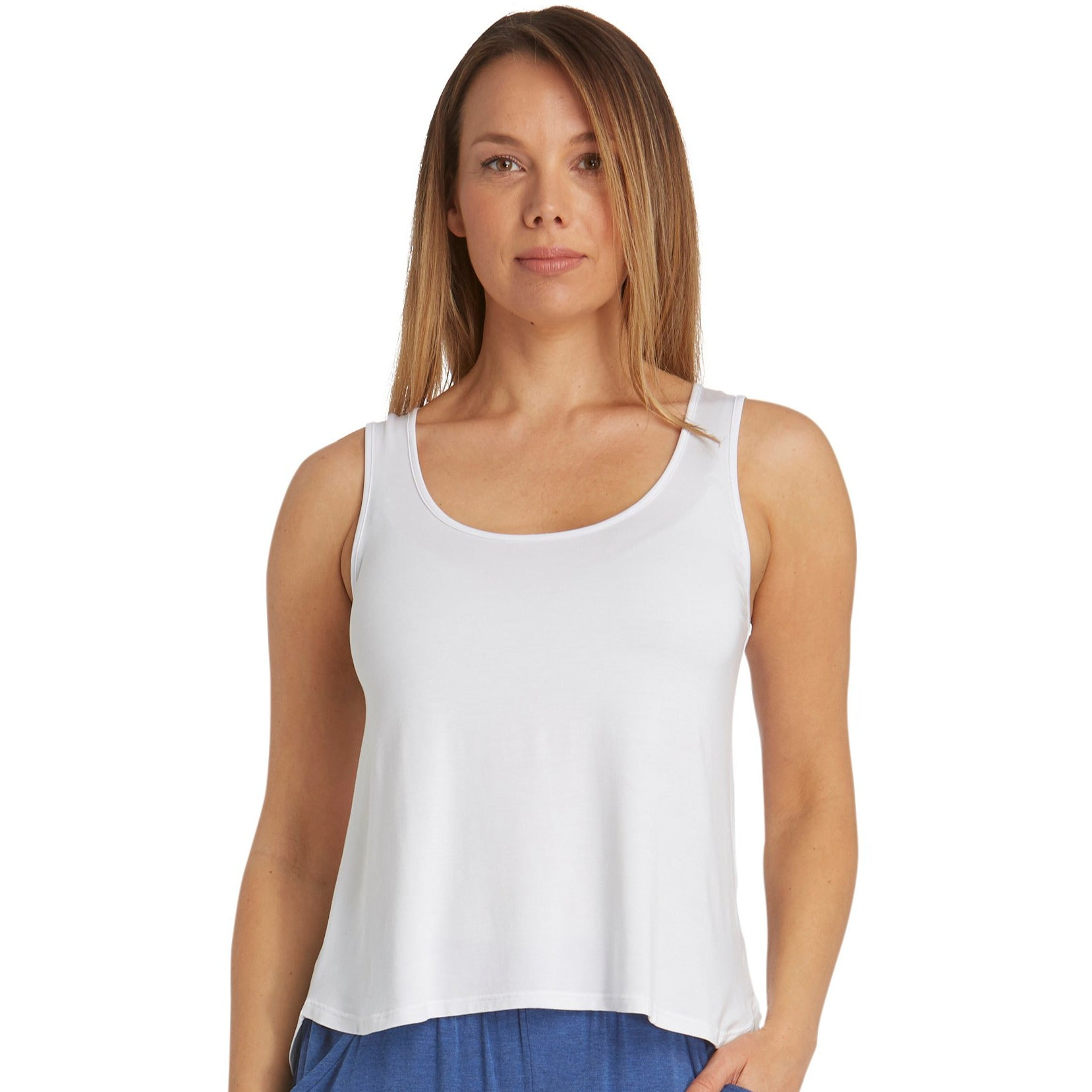 Tani Shell Tank top Loose Fit in Plain colours