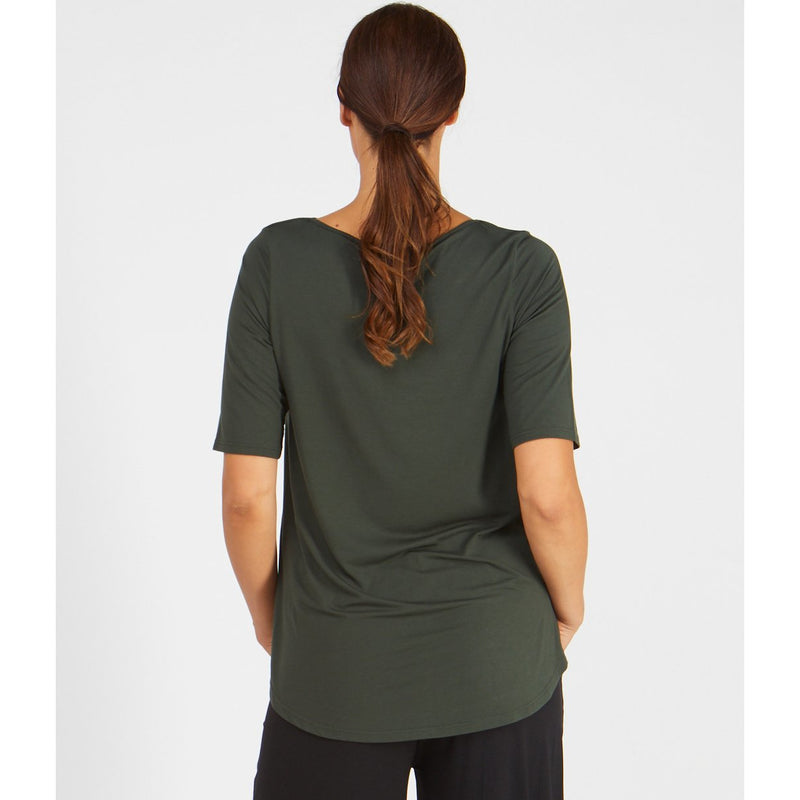 Tani Elbow sleeve swing top in plain colours