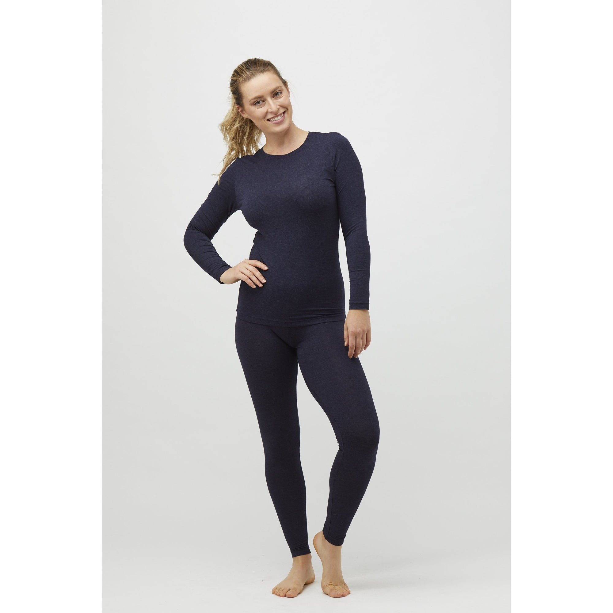 Tani Full length Leggings in Midnight Marle