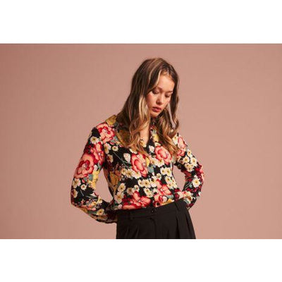 King Louie Rosie Blouse in Carioca Black print