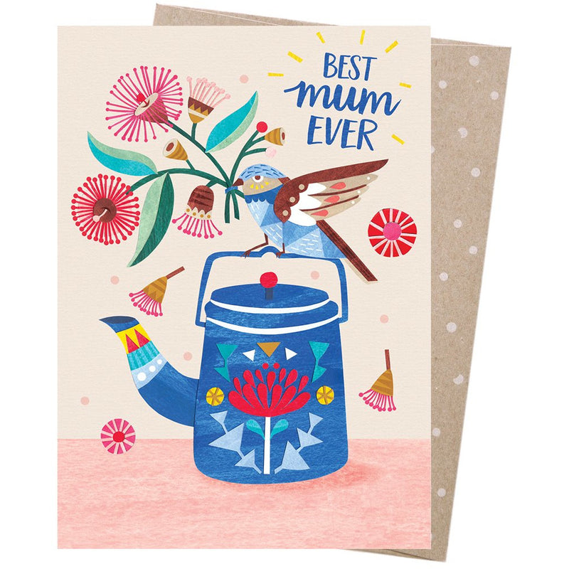 Earth Greetings Card Best Mum Teatime