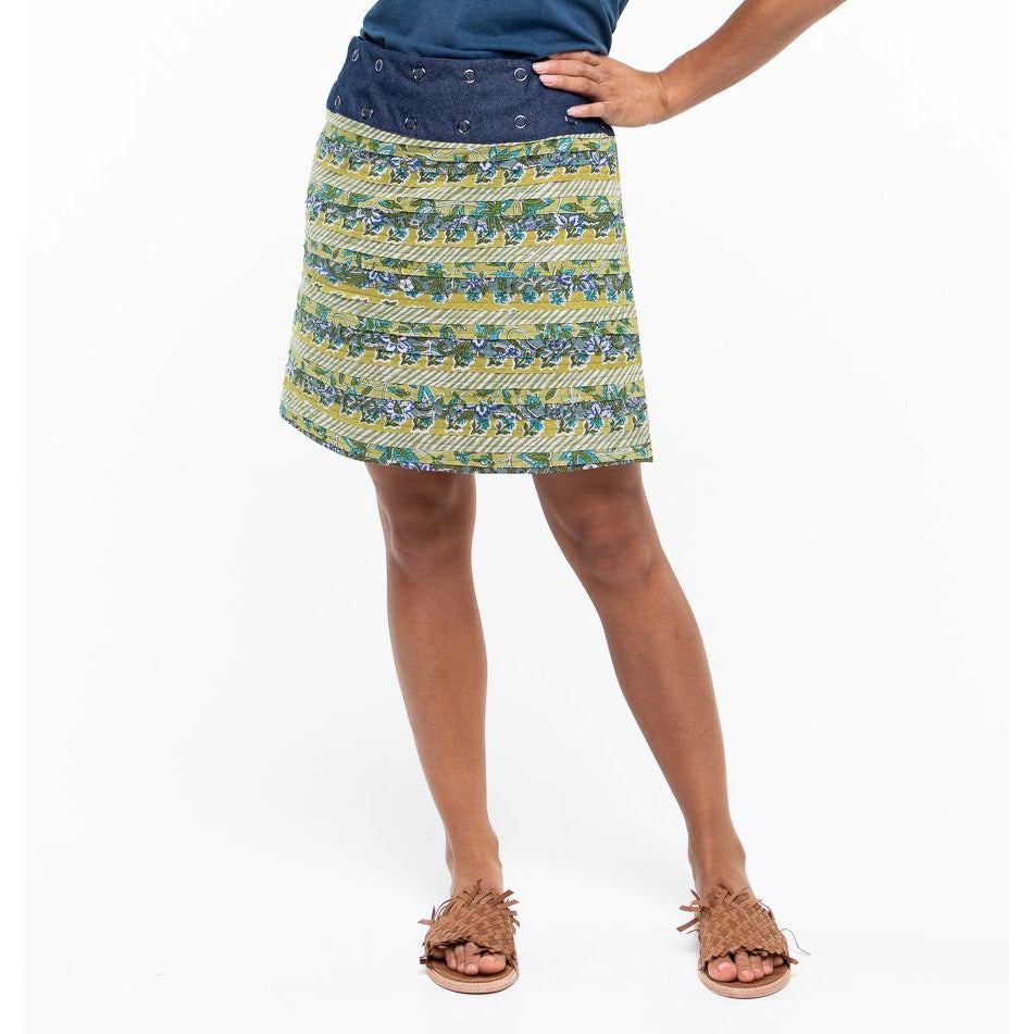 Boom Shankar Apatchy Skirt in Heliconia