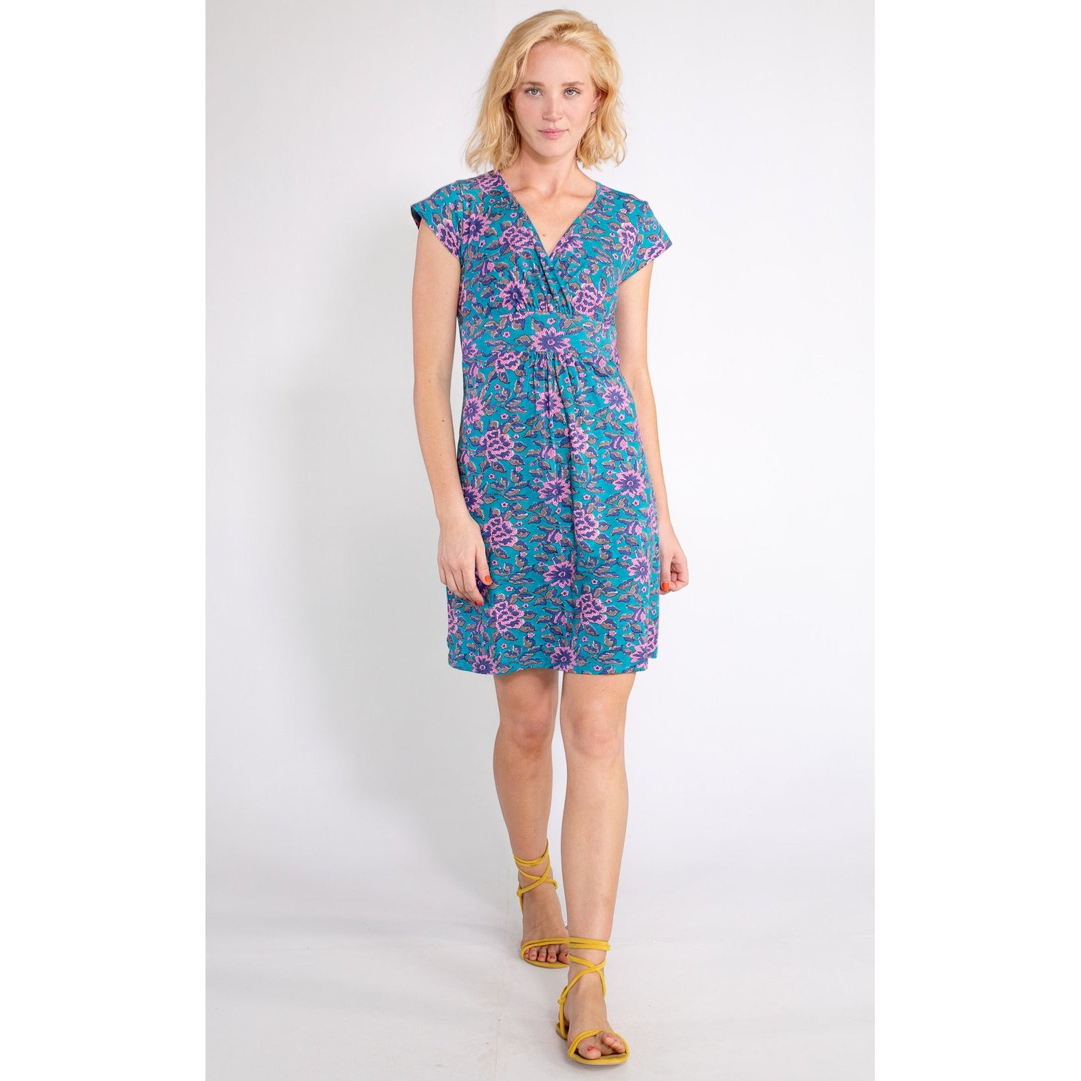 Boom Shankar Pip Dress in Jade Lotus Print