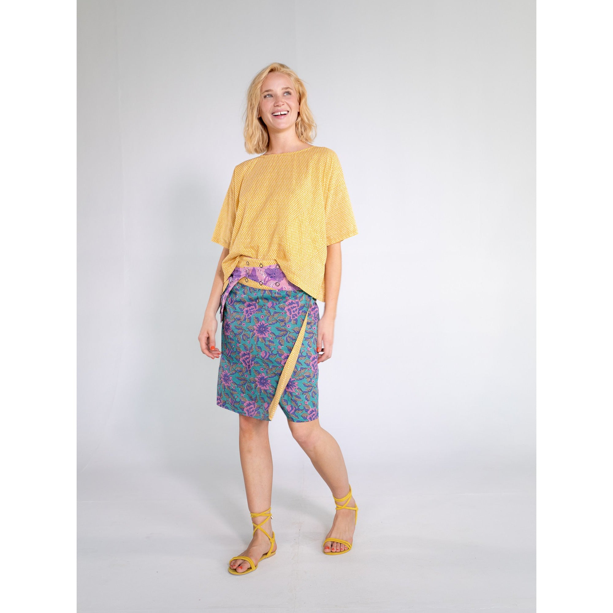 Boom Shankar Rosanna Long Skirt in Jade spice