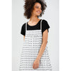 Brave+True Yonder Pinafore in White and Black Spot