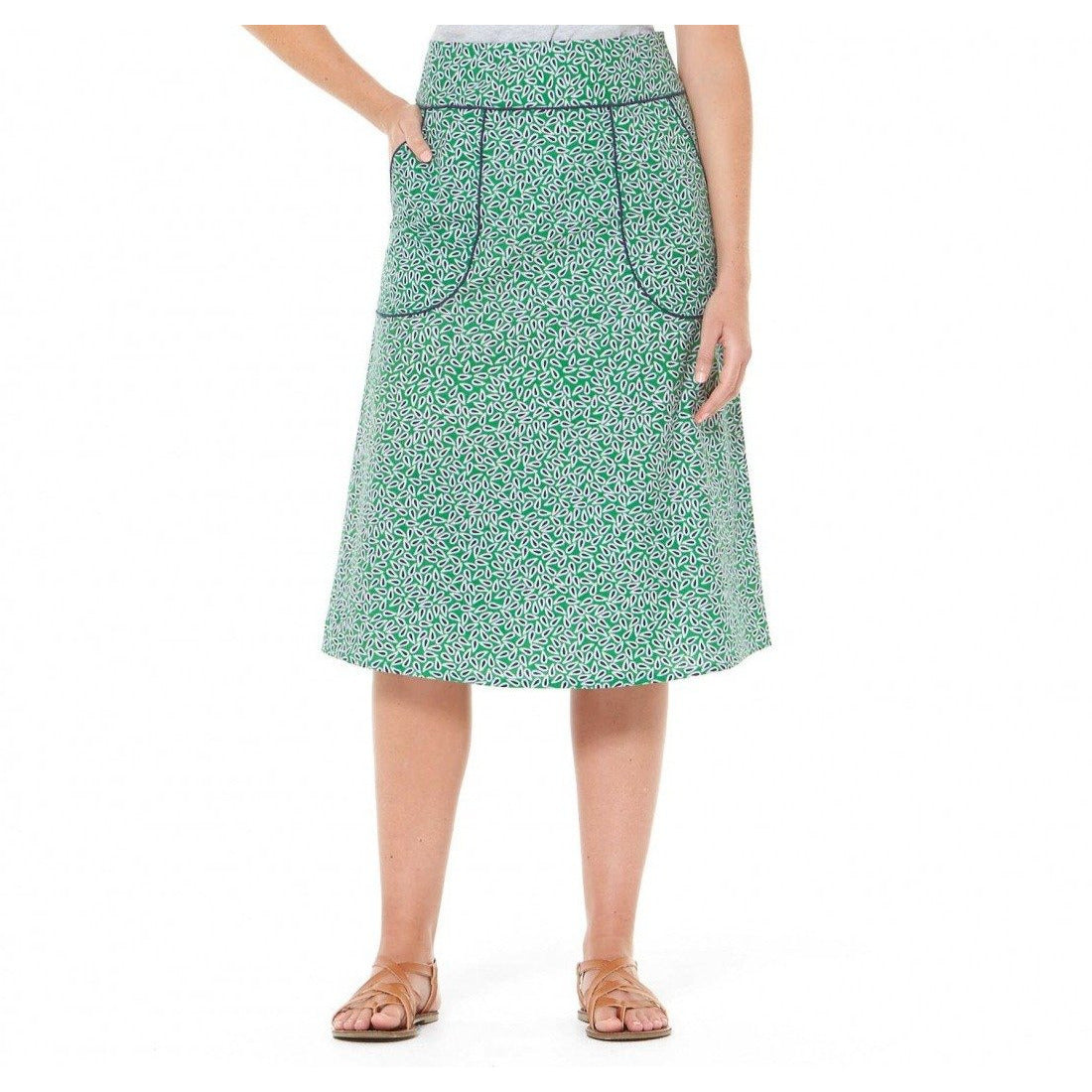 Rasaleela Melitta A-Line Cotton skirt in Lisbon Print