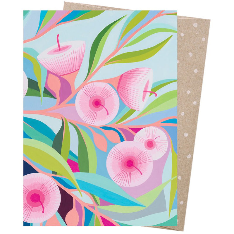 Earth Greetings Card Pink Blossom