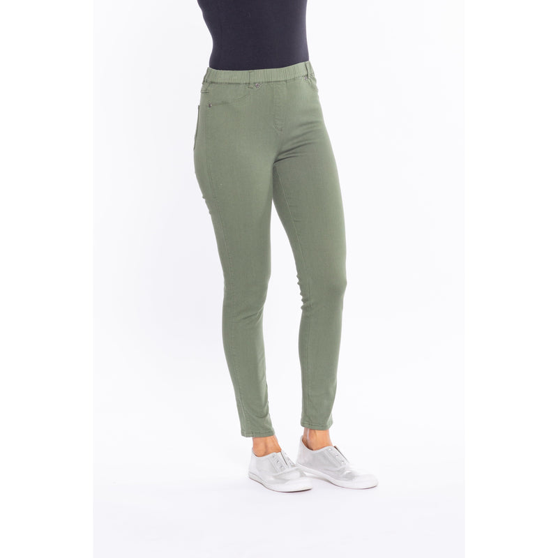 Cafe Latte Khaki Stretch Jeggings