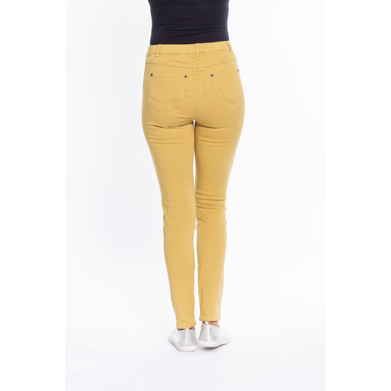 Cafe Latte Mustard Stretch Jeggings