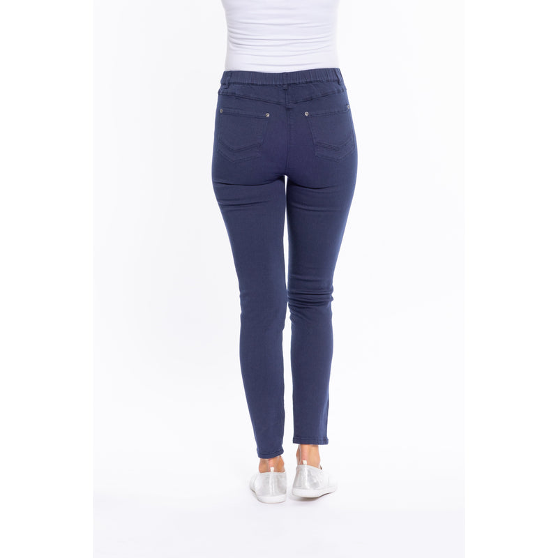 Cafe Latte Navy Stretch Jeggings