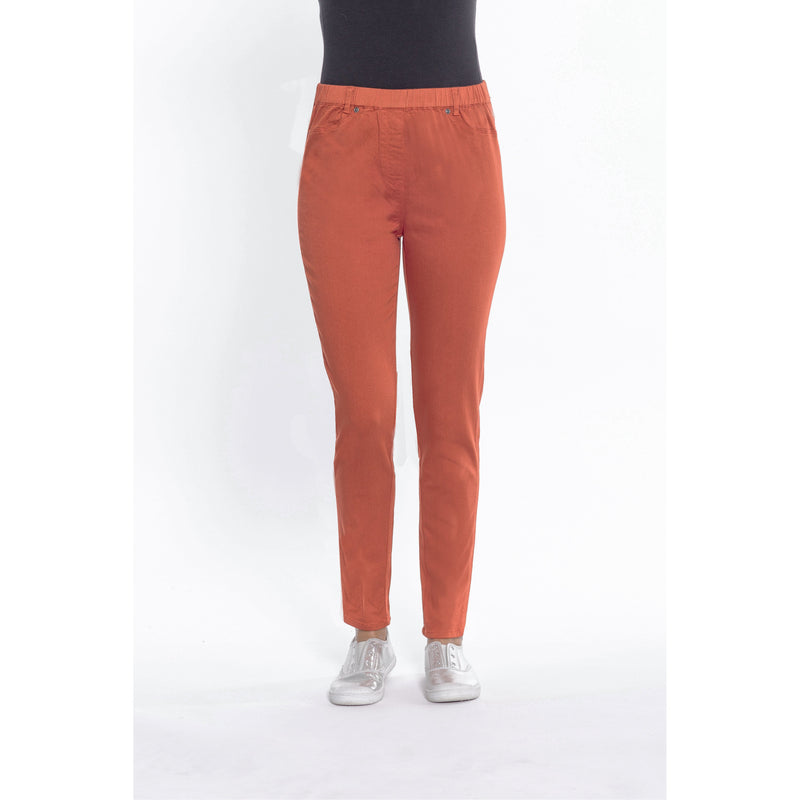 Cafe Latte Burnt Orange Stretch Jeggings