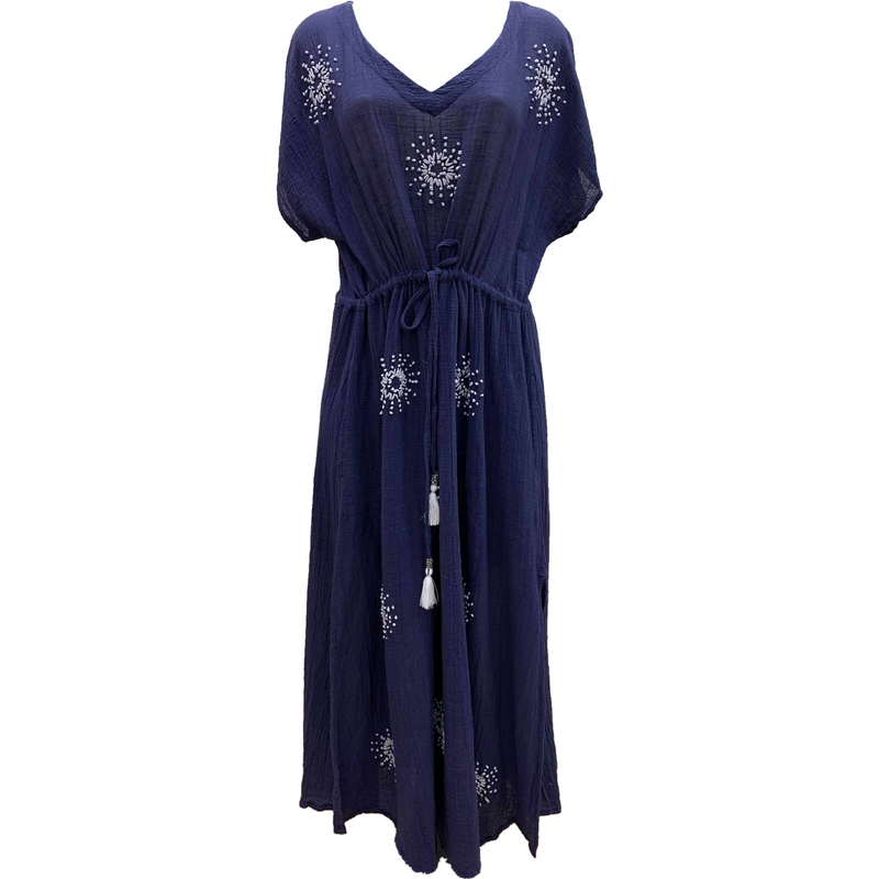 Lula Soul Symi Midi Dress in Navy