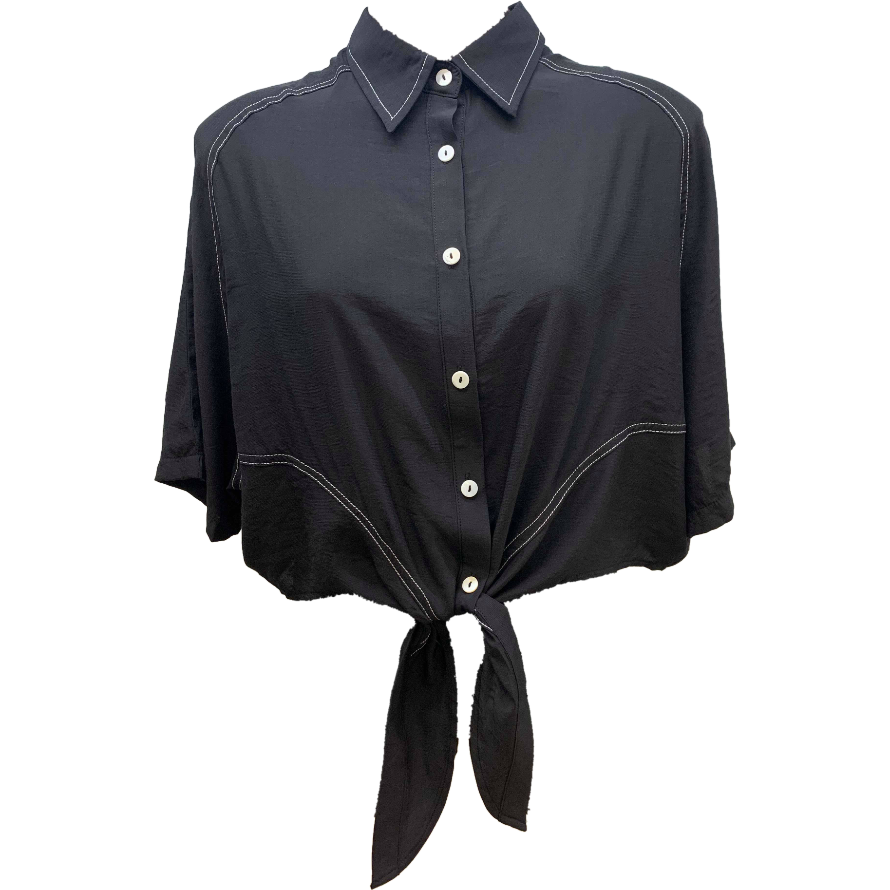 Rubyyaya Tie Top Black