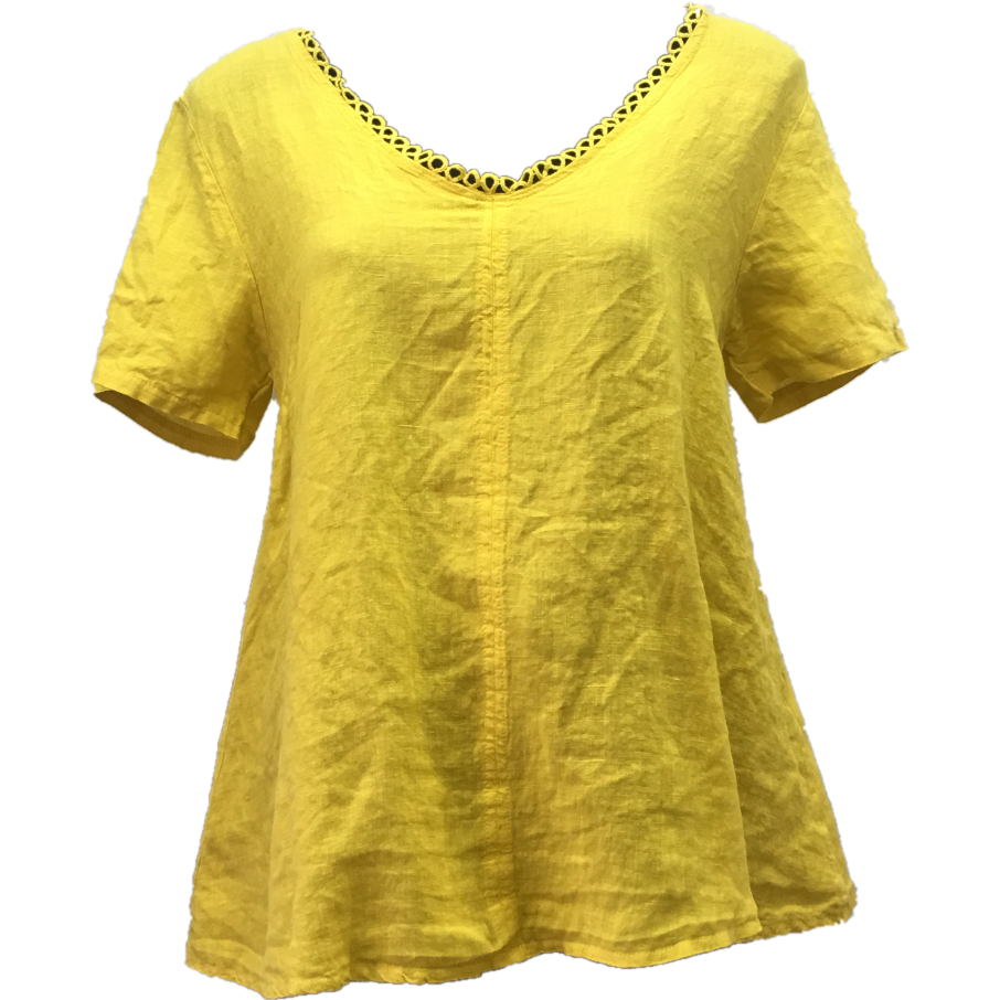 Talia Benson Linen top in Yellow